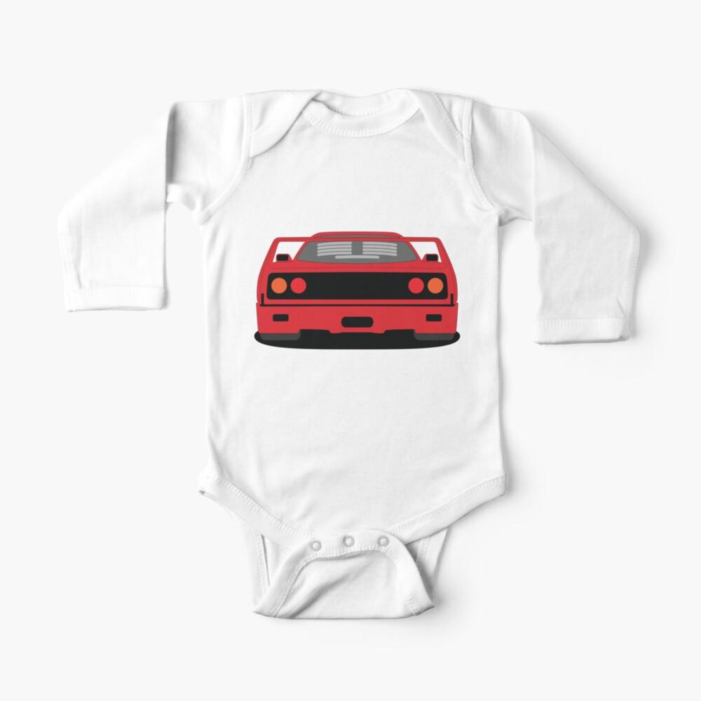 Ferrari F40 Long Sleeve Baby One Piece