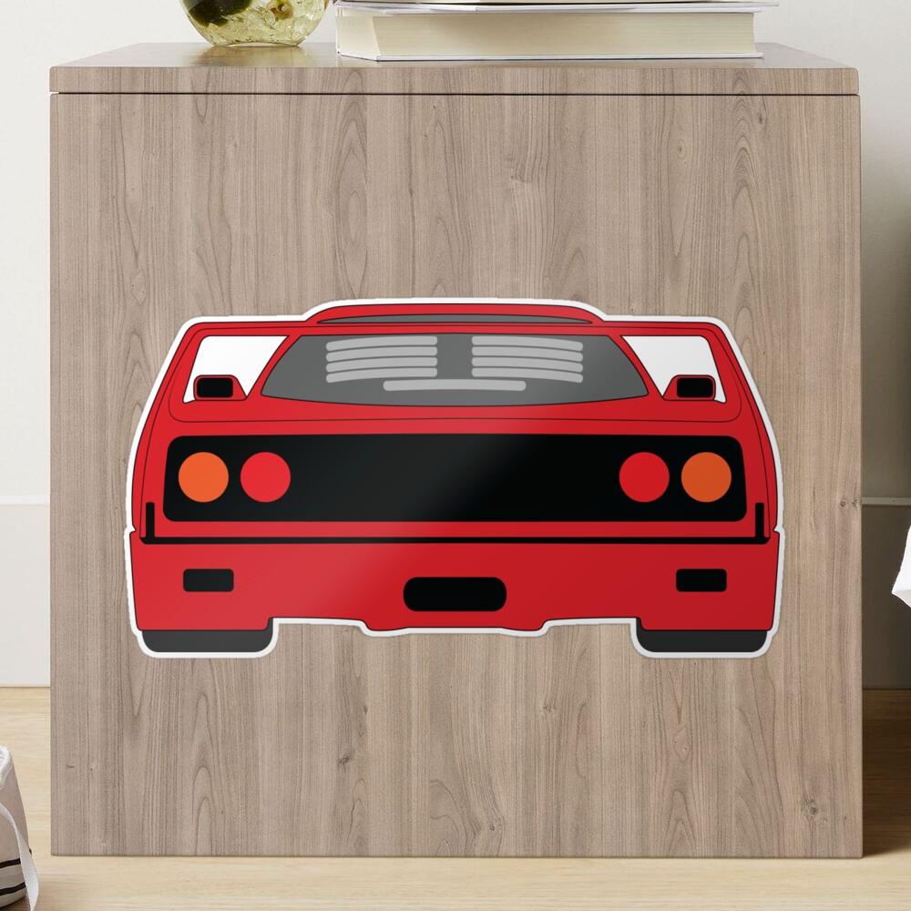 Ferrari F40 Matte Sticker