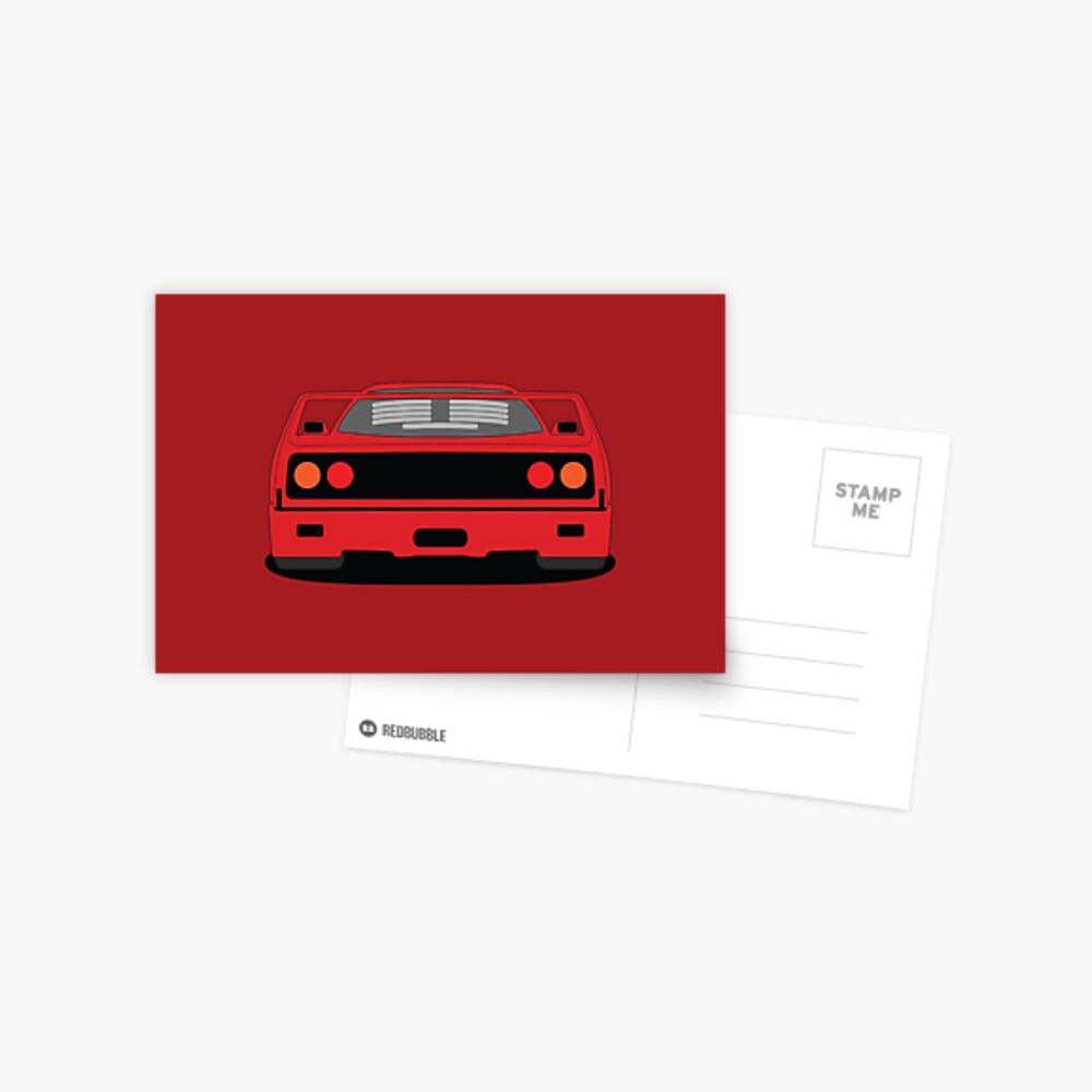 Ferrari F40 Postcard