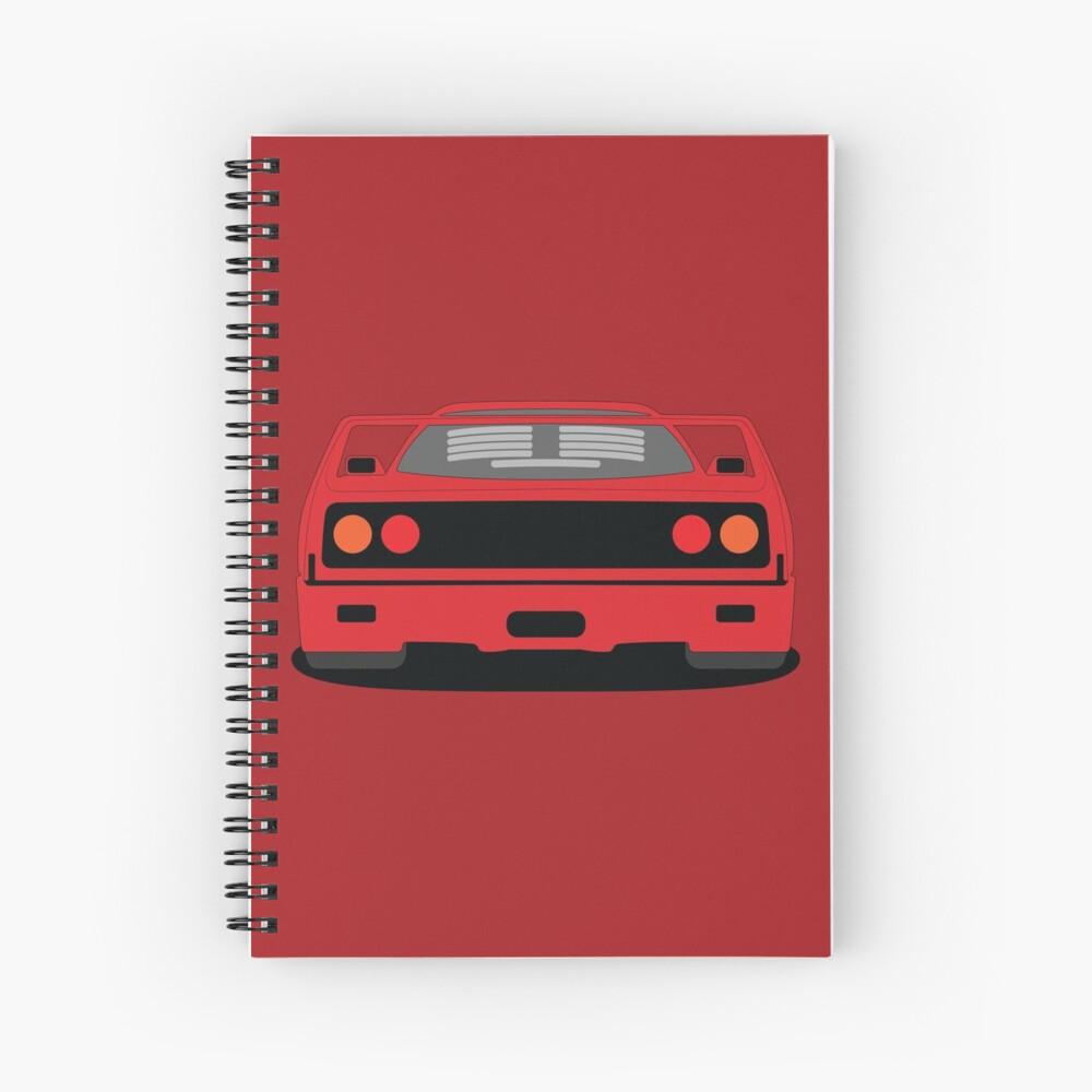 Ferrari F40 Spiral Notebook