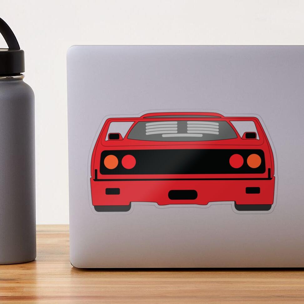 Ferrari F40 Transparent Sticker