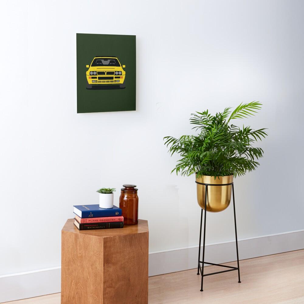 Lancia Delta HF Integrale Canvas Mounted Print