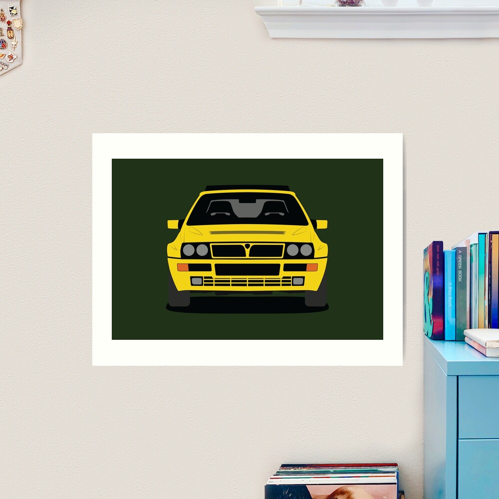 Lancia Delta HF Integrale Art Print