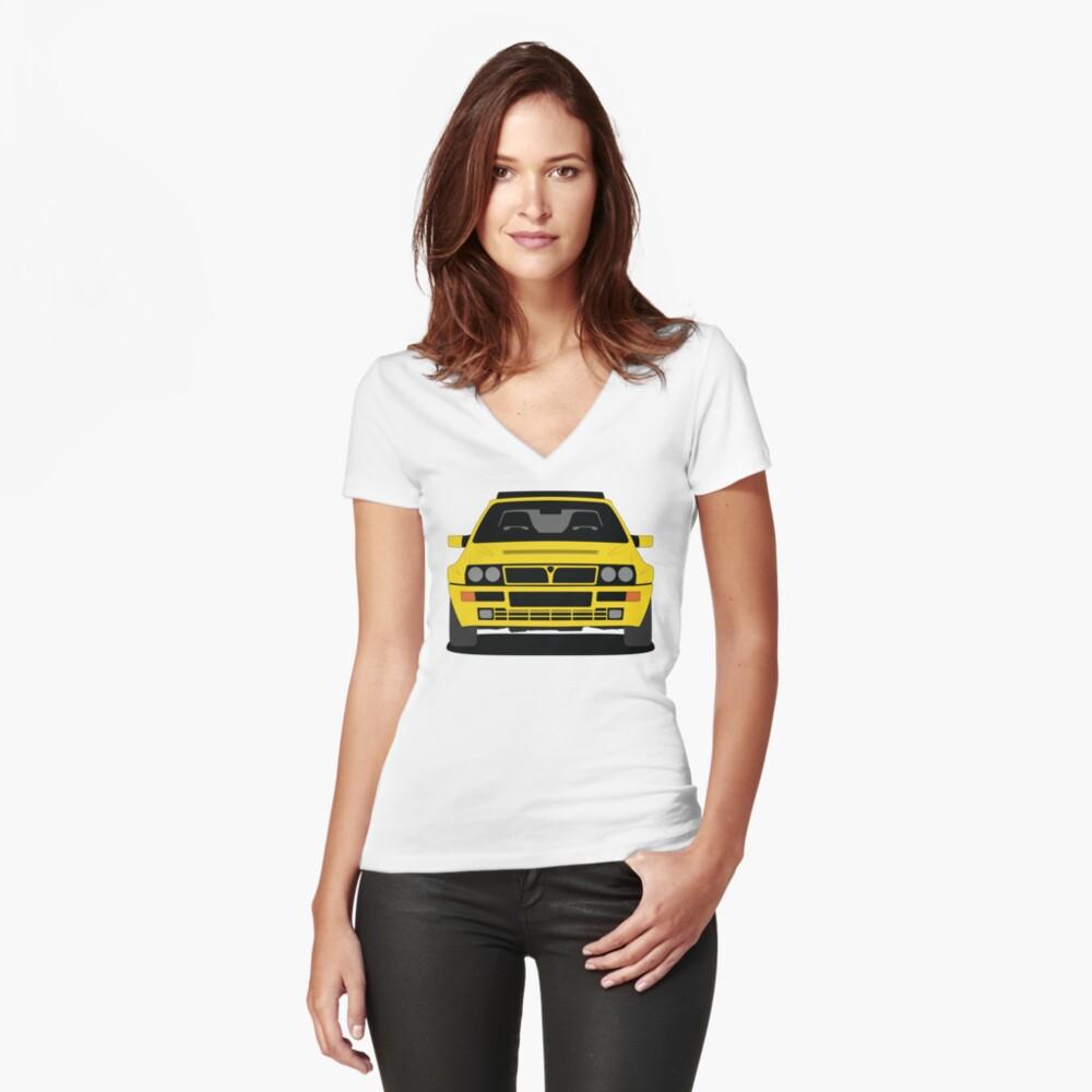 Lancia Delta HF Integrale Fitted V Neck T-shirt