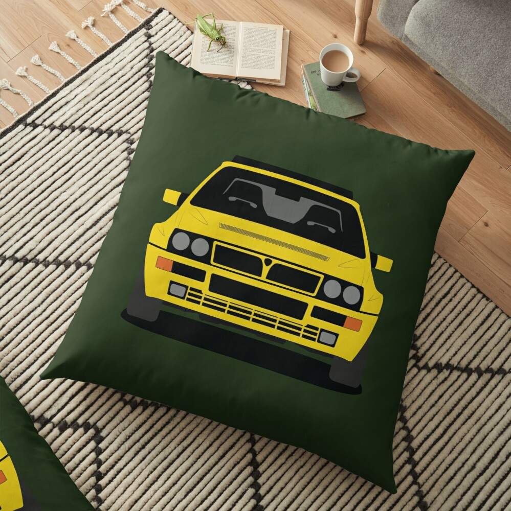 Lancia Delta HF Integrale Floor Pillow