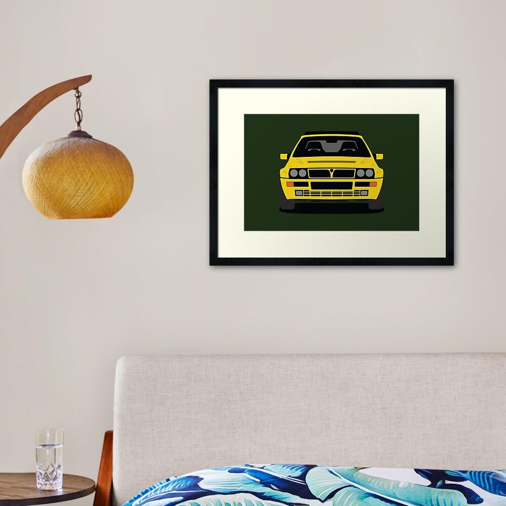 Lancia Delta HF Integrale Framed Art Print