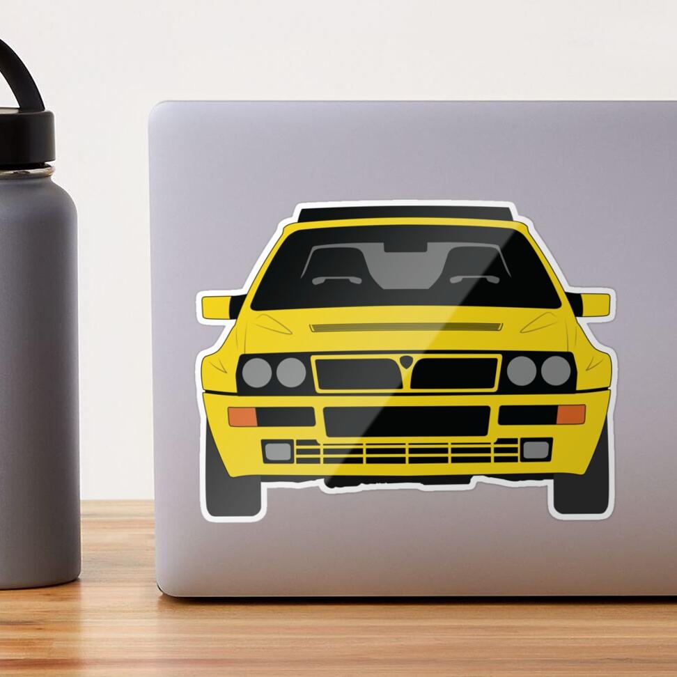 Lancia Delta HF Integrale Glossy Sticker
