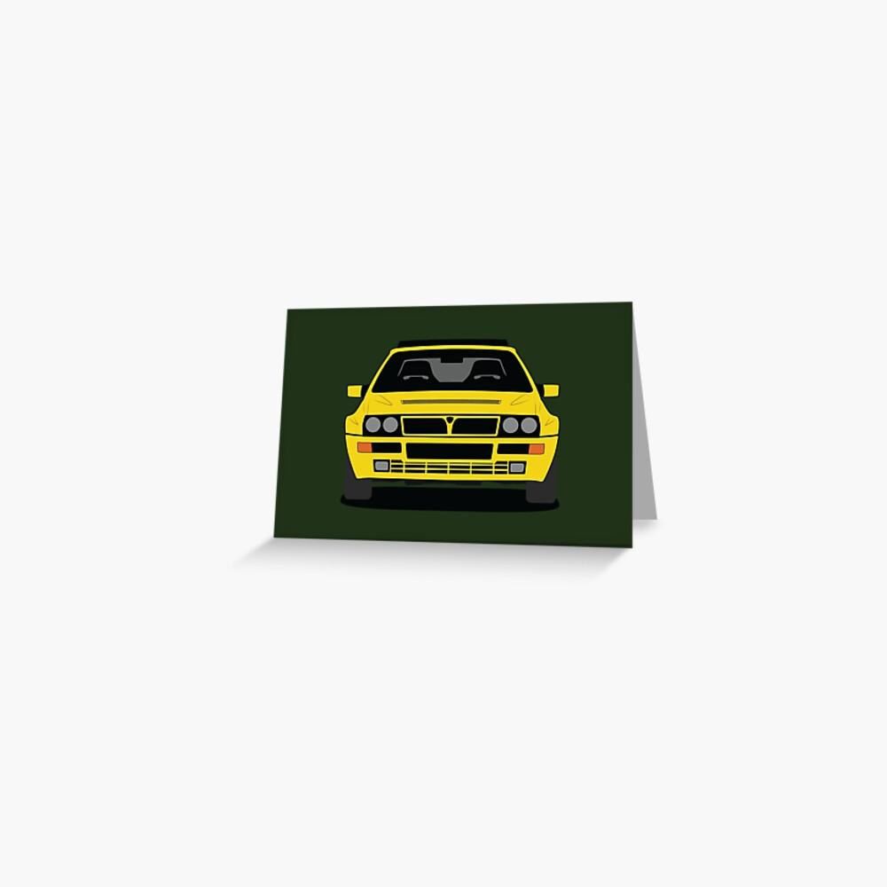 Lancia Delta HF Integrale Greeting Card