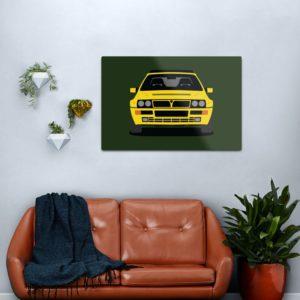 Lancia Delta HF Integrale Metal Print