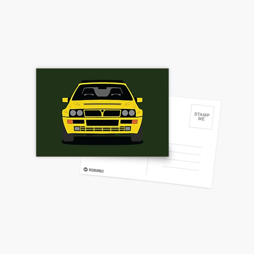 Lancia Delta HF Integrale Postcard