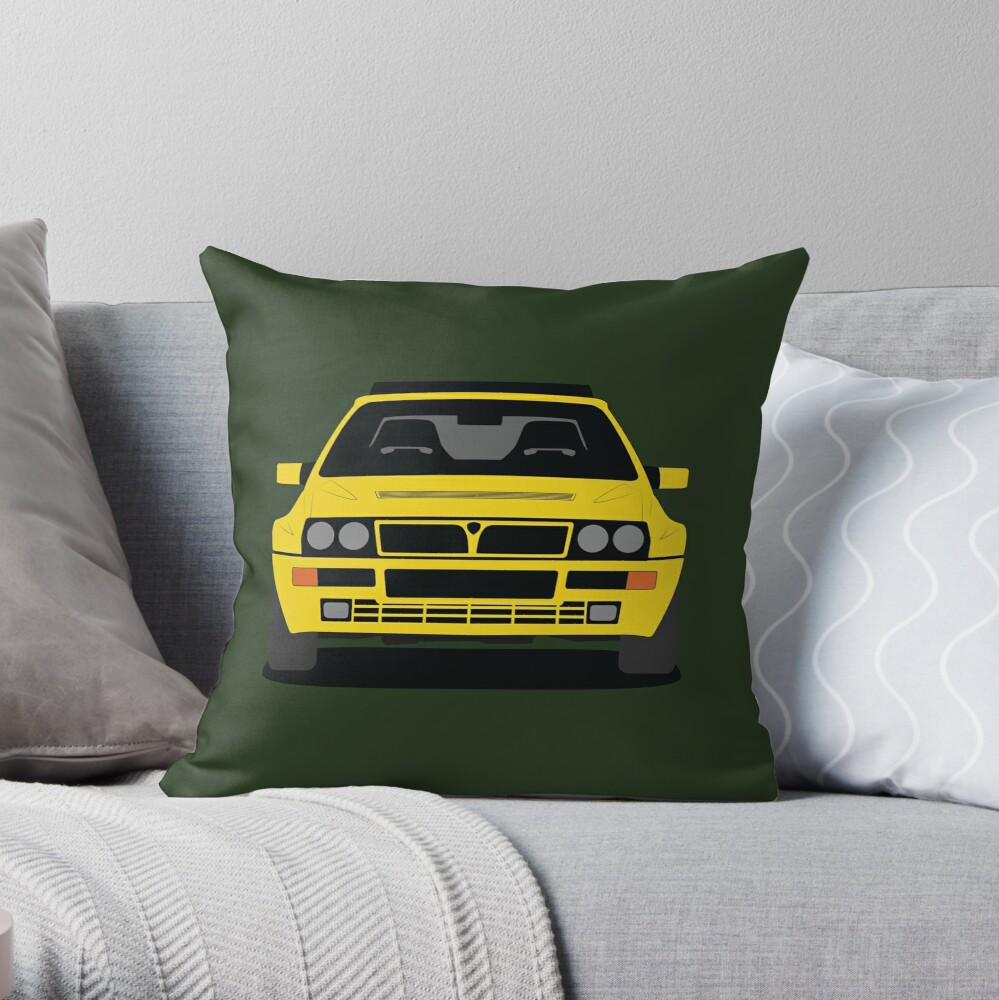 Lancia Delta HF Integrale Throw Pillow