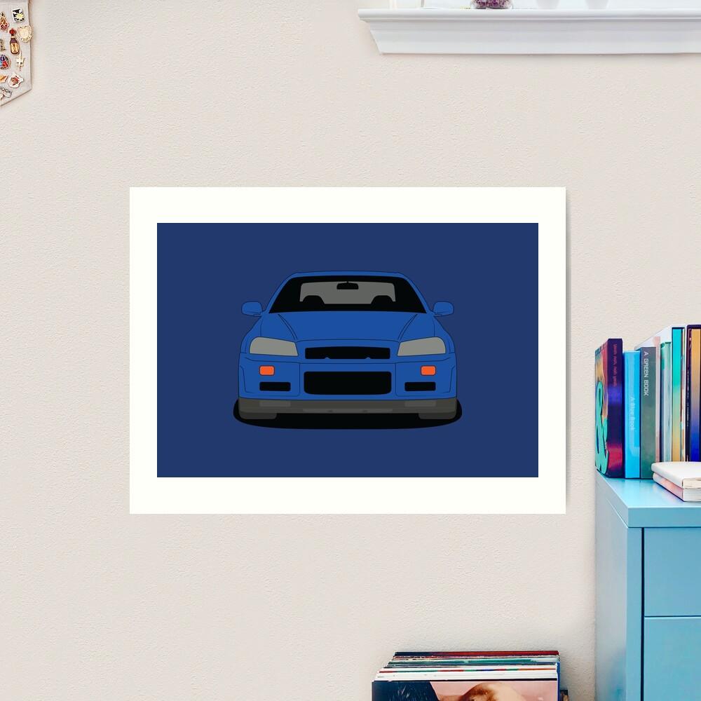 Nissan GT-R R34 Art Print