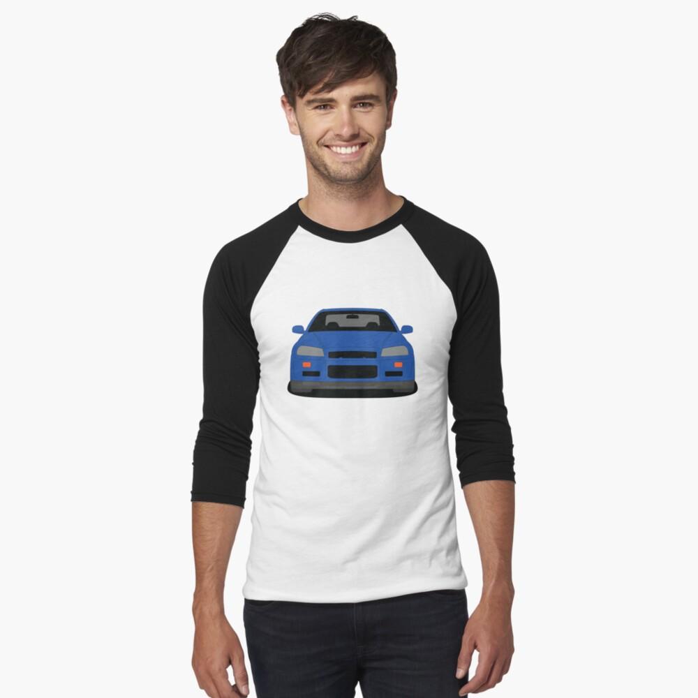 Nissan Skyline GT-R R34 Baseball 3/4 Sleeve T-shirt
