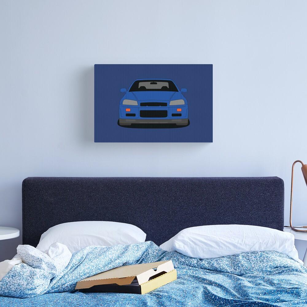 Nissan GT-R R34 Canvas Print