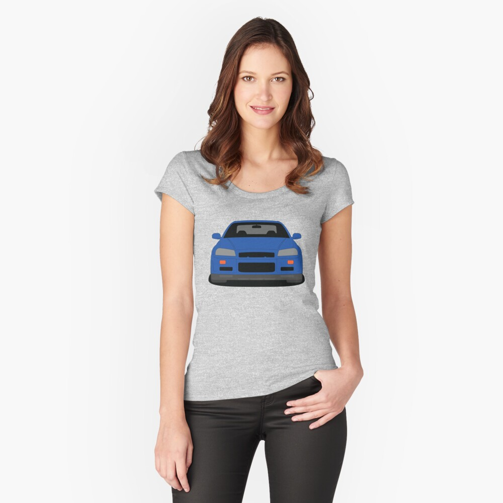 Nissan Skyline GT-R R34 Fitted Scoop Neck T-shirt