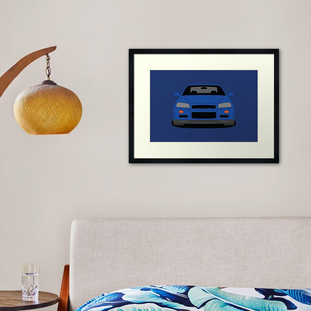 Nissan GT-R R34 Framed Art Print