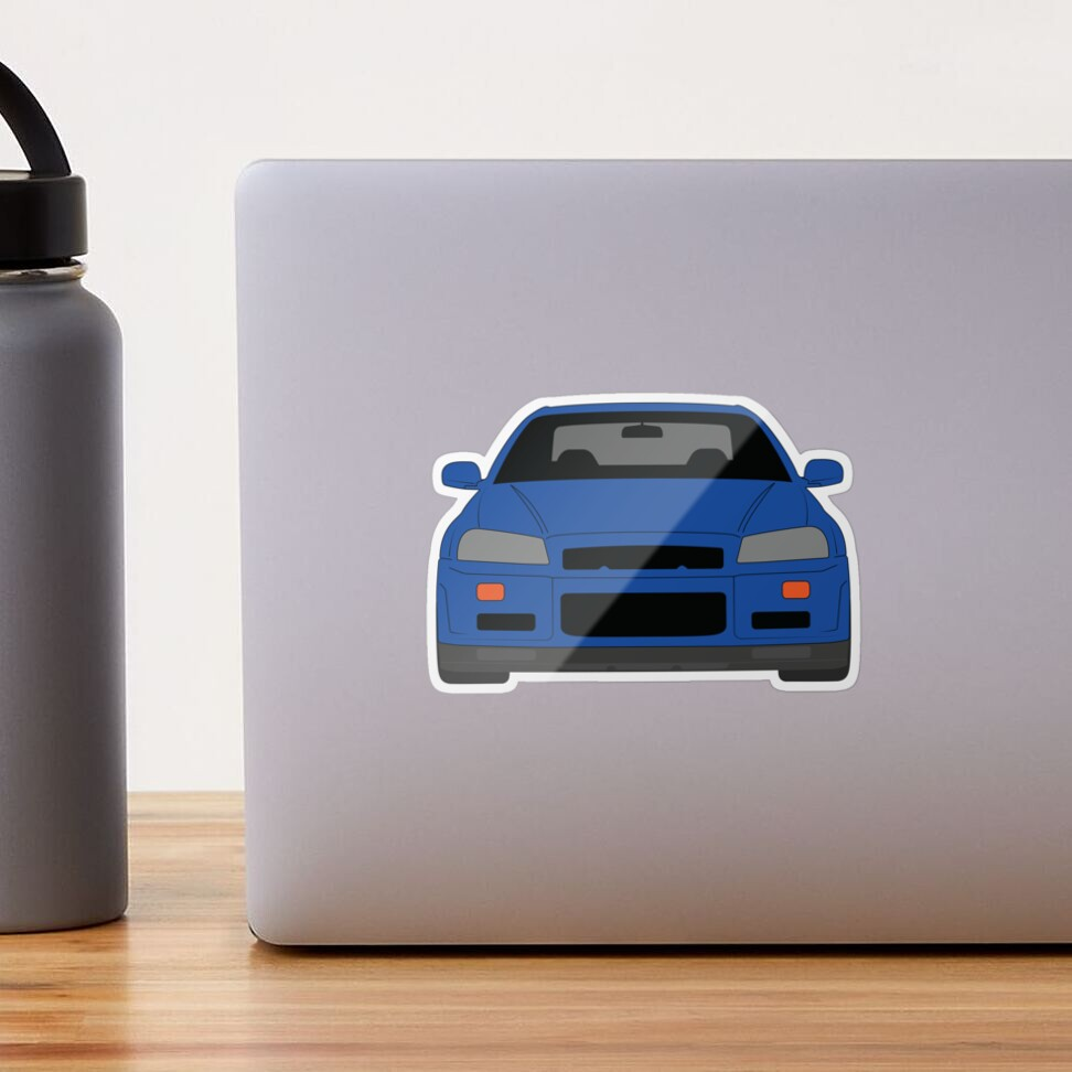 Nissan GT-R R34 Glossy Sticker
