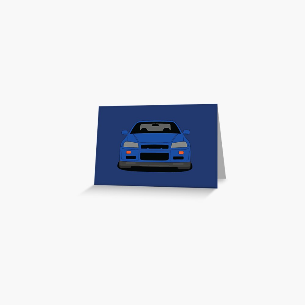 Nissan Skyline GT-R R34 Greeting Card