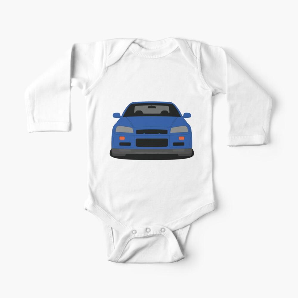 Nissan Skyline GT-R R34 Long Sleeve Baby One Piece
