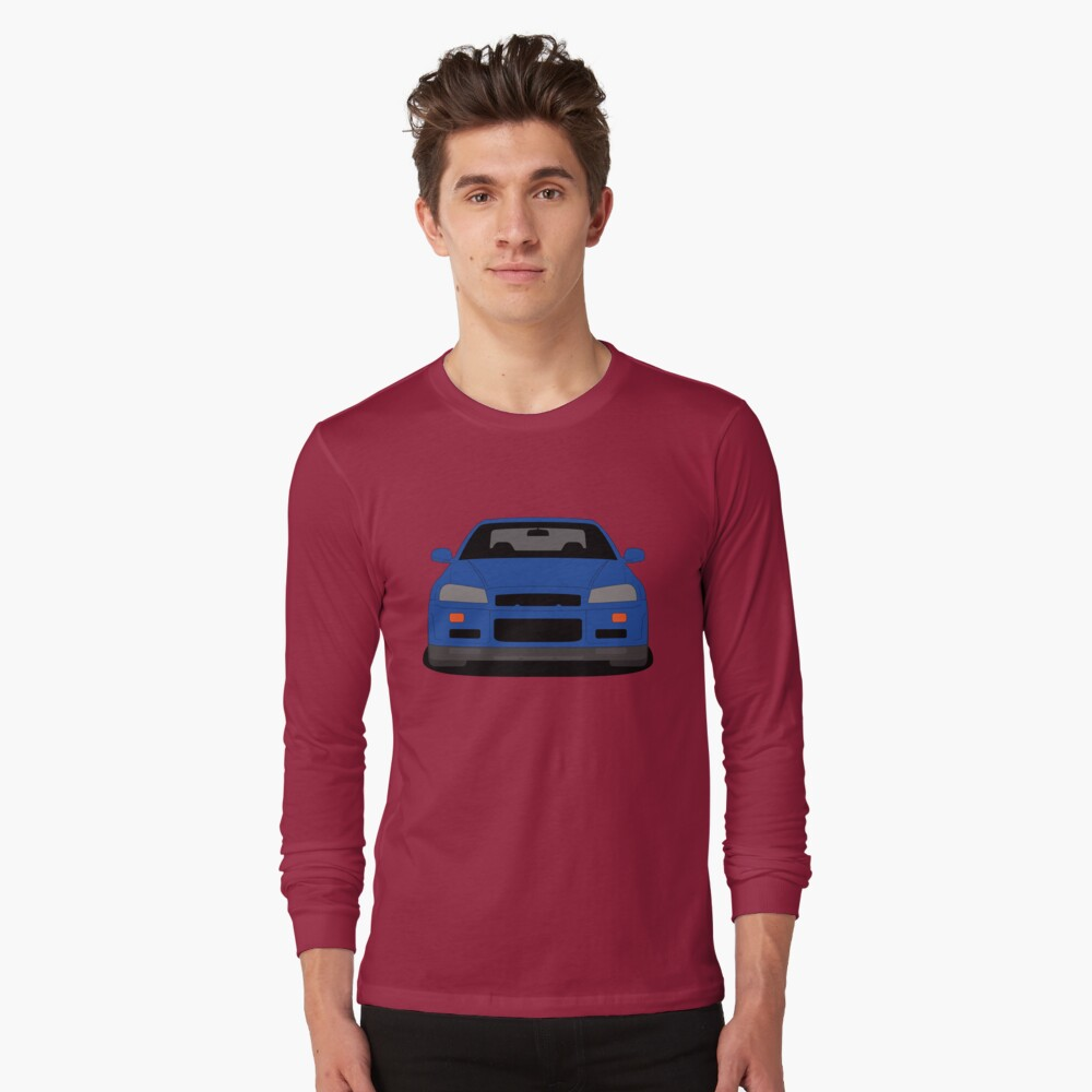 Nissan Skyline GT-R R34 Long Sleeve T-shirt