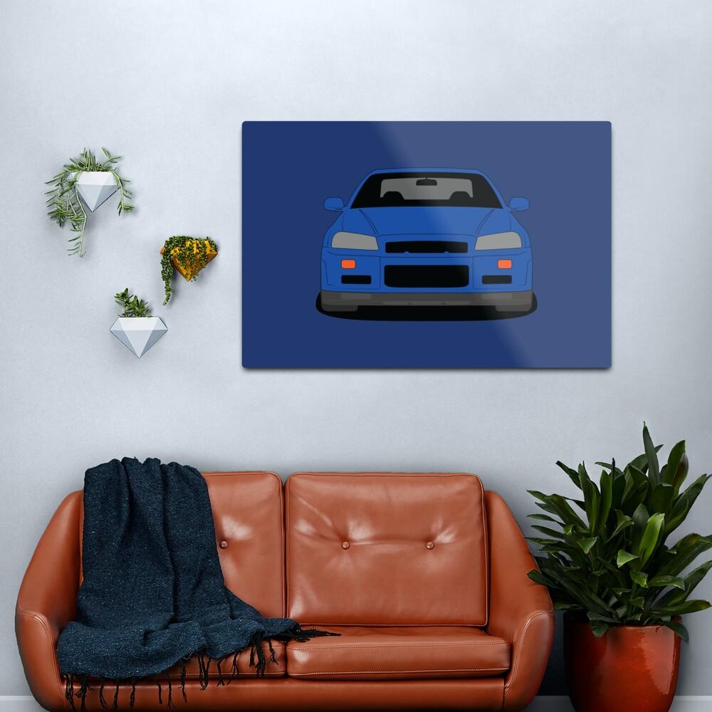 Nissan GT-R R34 Metal Print