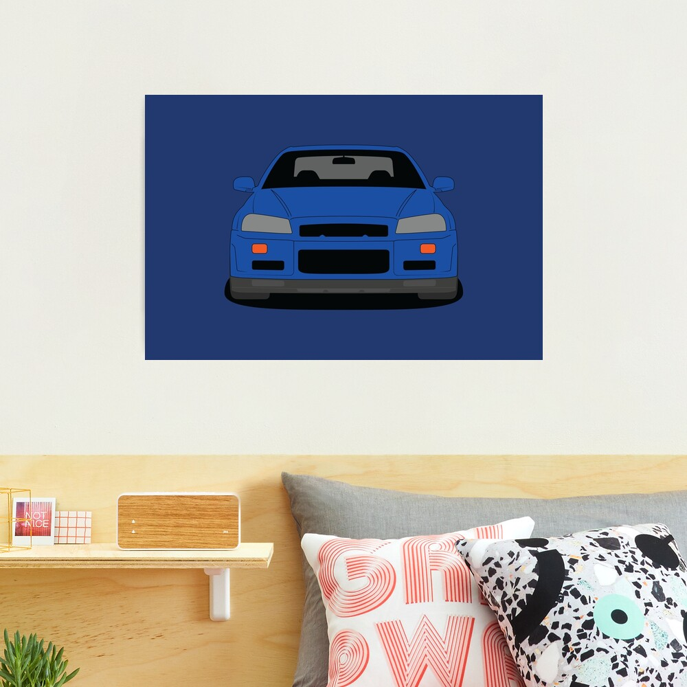 Nissan GT-R R34 Photographic Print