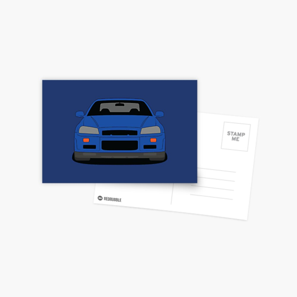 Nissan Skyline GT-R R34 Postcard