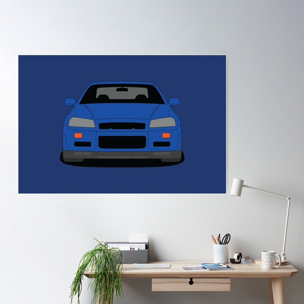 Nissan GT-R R34 Poster