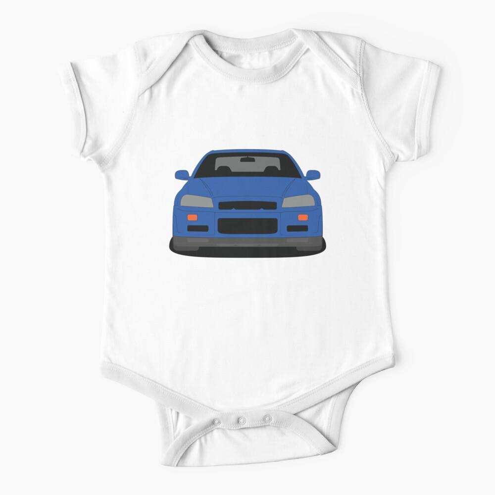 Nissan Skyline GT-R R34 Short Sleeve Baby One Piece