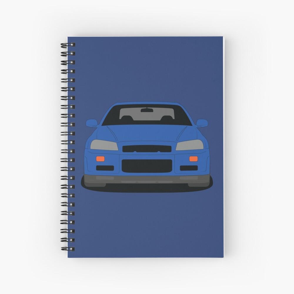 Nissan Skyline GT-R R34 Spiral Notebook