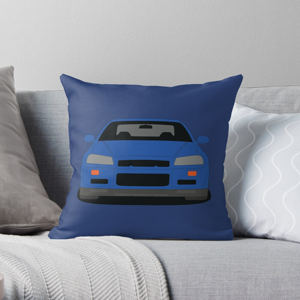 Nissan GT-R R34 Throw Pillow