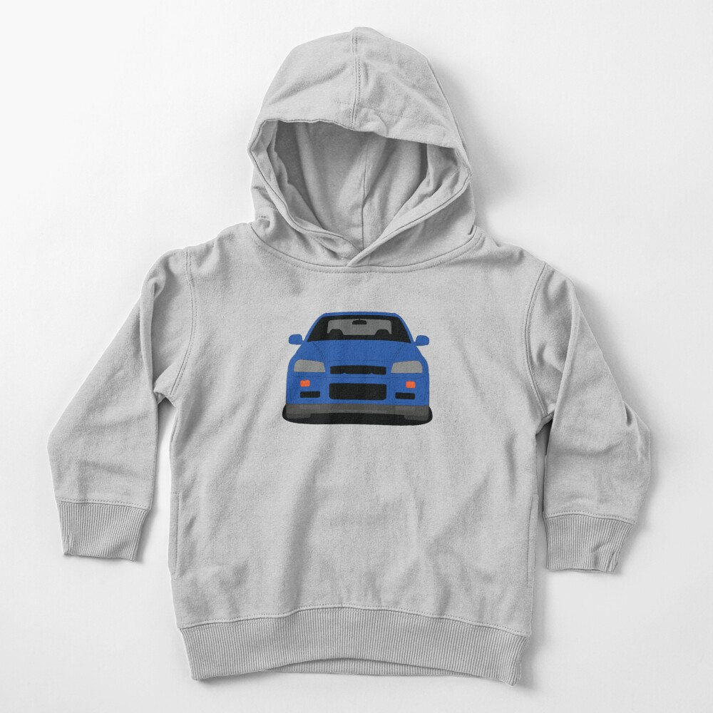 Nissan Skyline GT-R R34 Toddler's Pullover Hoodie